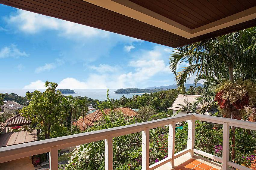 Splendid sea view from the balcony at Ruedi Villa in West Phuket