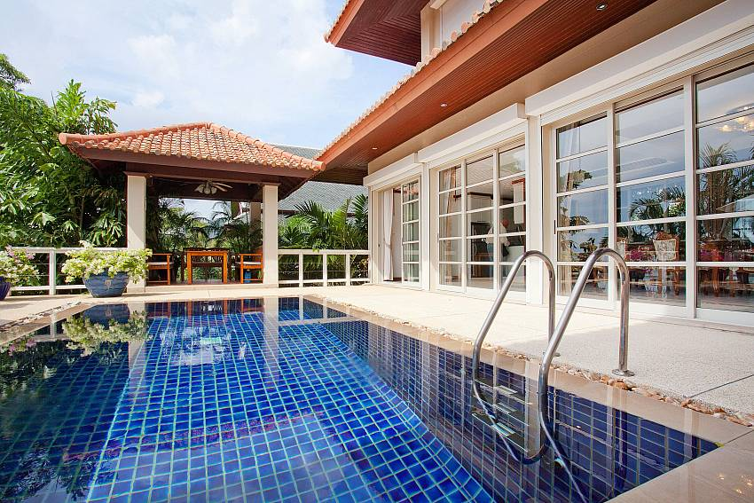 Thai pavilion at the private pool of Ruedi Villa in Phuket
