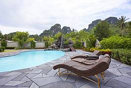 Swimming pool with gorgeous island view, Baan Sang Dow 2 Bed  Limestone Cliff View Villas for Rent In Krabi. Thailand Holiday Homes – The Services of Villa for Rent, House for Rent, Apartment for Rent and so many more…