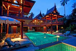 Large 6 Bedroom Luxury Pool Villa 20 Meters from Laem Set Beach, Koh Samui