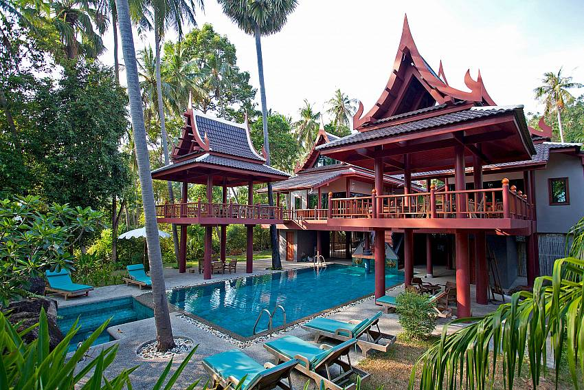 Pool and Villa_laemset-lodge_villa_6-bedroom_laem-set-beach_koh-samui_thailand