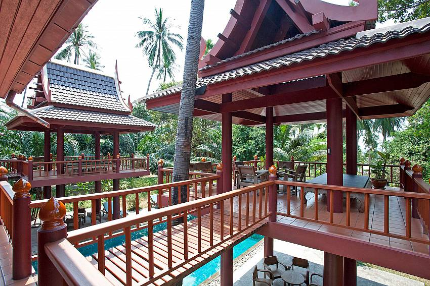 Upstairs Thai Salas_laemset-lodge_villa_6-bedroom_laem-set-beach_koh-samui_thailand