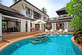 Large 4 Bedroom Luxury Pool Villa With Tropical Gardens 20 Meters from Bang Po Beach in Koh Samui