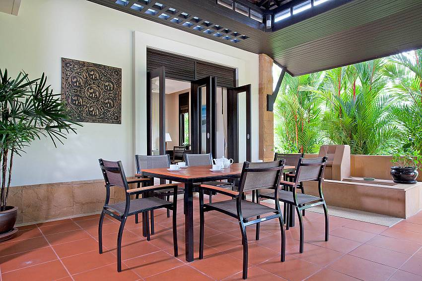 Al fresco dining on the terrace of Chom Tawan West Phuket