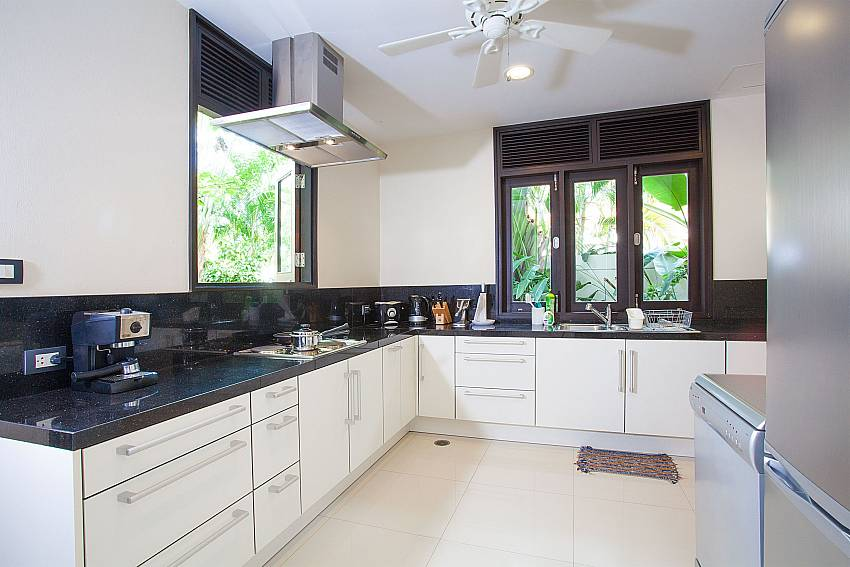 Fully equipped kitchen at 4 bed villa Chom Tawan in Phuket
