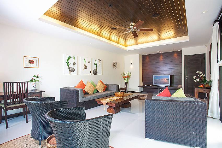 Terrific living area at Chom Tawan 4 bed villa in Bang Tao West Phuket