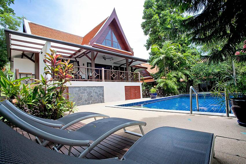 3 bedroom pool villa jacuzzi terrace bang por koh samui for Garden pool villa outrigger koh samui