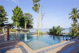 Luxurious swimming pool at the side of Ao Nam Mao Beach.