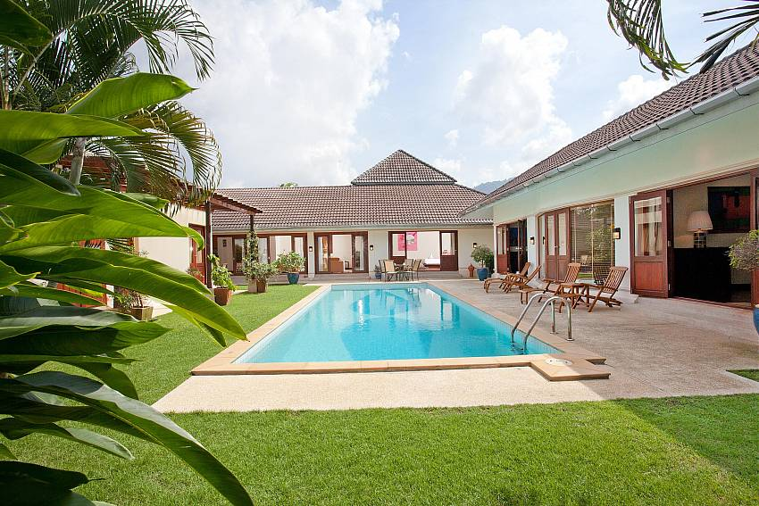 Immaculate Lawn and pool_red-mountain-villa_4-bedroom_private-pool_kathu_phuket