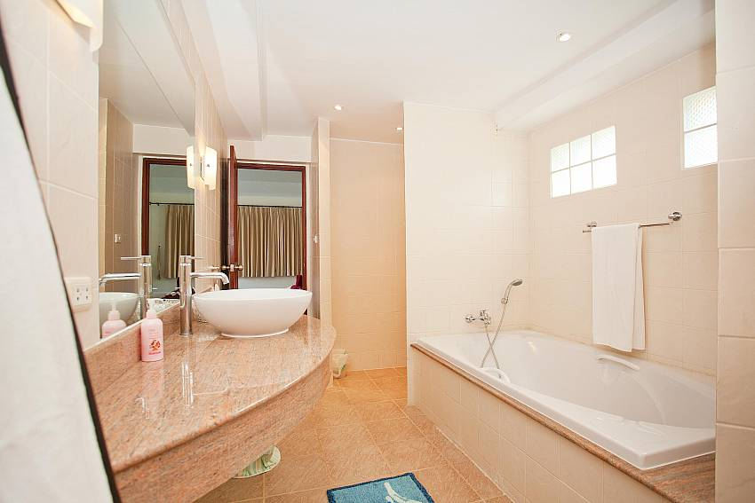 Beautiful bathrooms at Red Mountain Villa Central Phuket