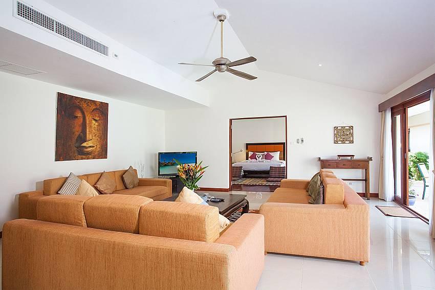 Comfortable sitting area at Red Mountain Villa in Kahtu Phuket