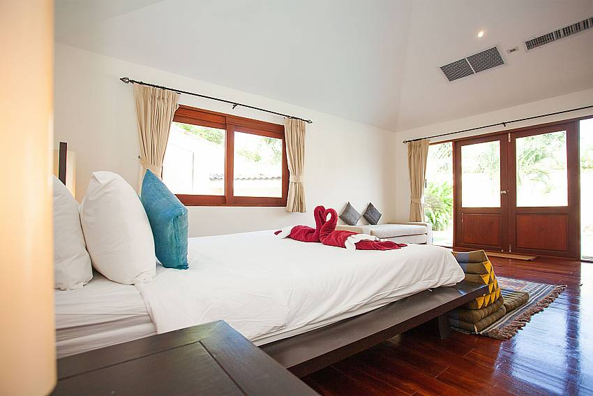 Comfortable beds at Red Mountain Villa in Phuket