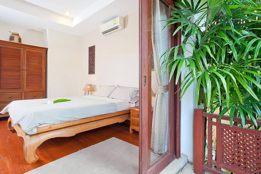 King size bedroom upstairs at Villa Fantasea in West Phuket