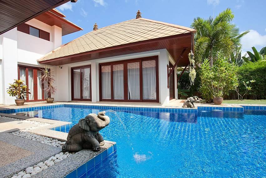Big private swimming pool at Villa Fantasea in Kamala West Phuket