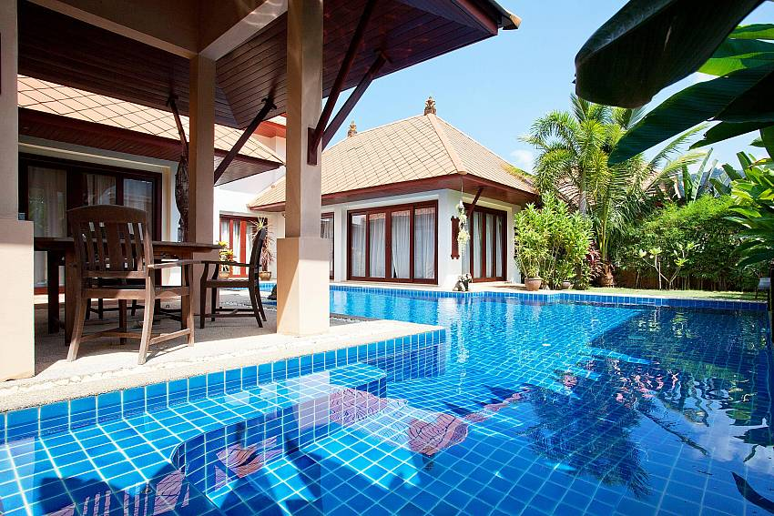 Idyllic resting place by the private pool of Villa Fantasea Phuket