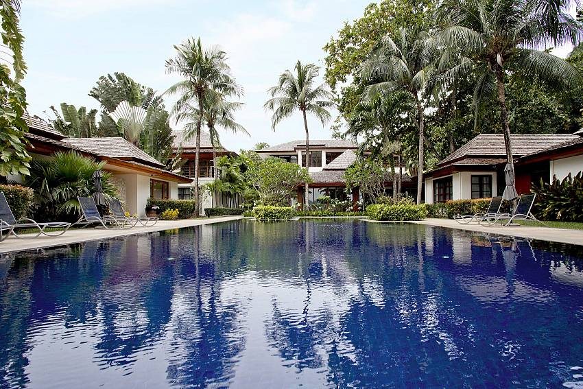 Huge communal pool for guests at Chai Nam Condo in Phuket