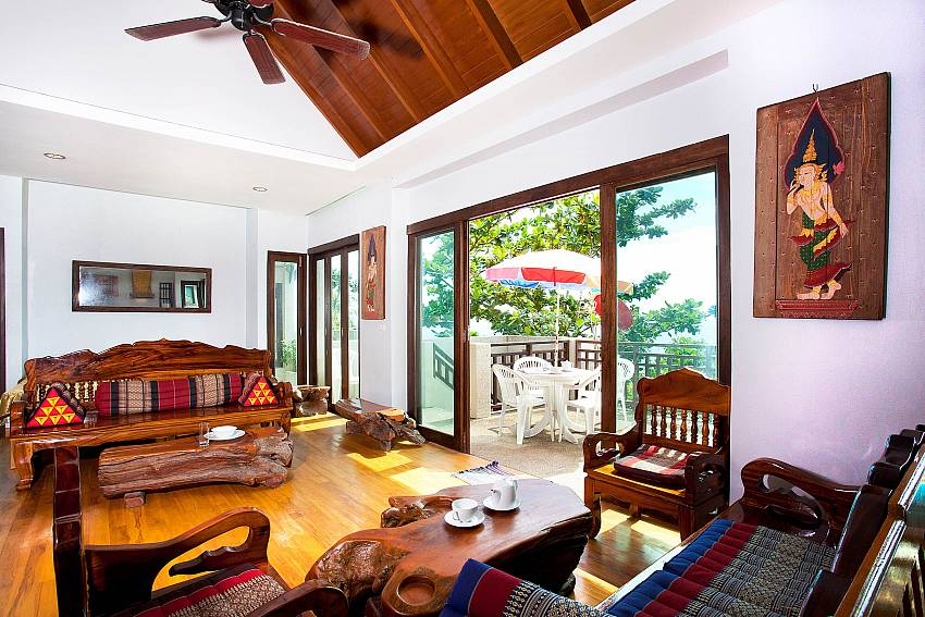 Living Room and Balcony_talay-view-villa_1-bed_villa_koh-lanta_phuket_krabi_thailand