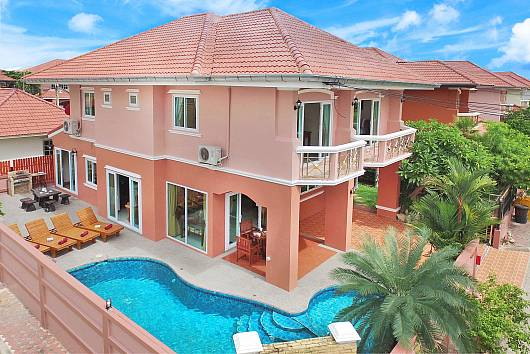 Rent Pattaya Villa: Baan Nomella, 4 Bedrooms. 7680 baht per night