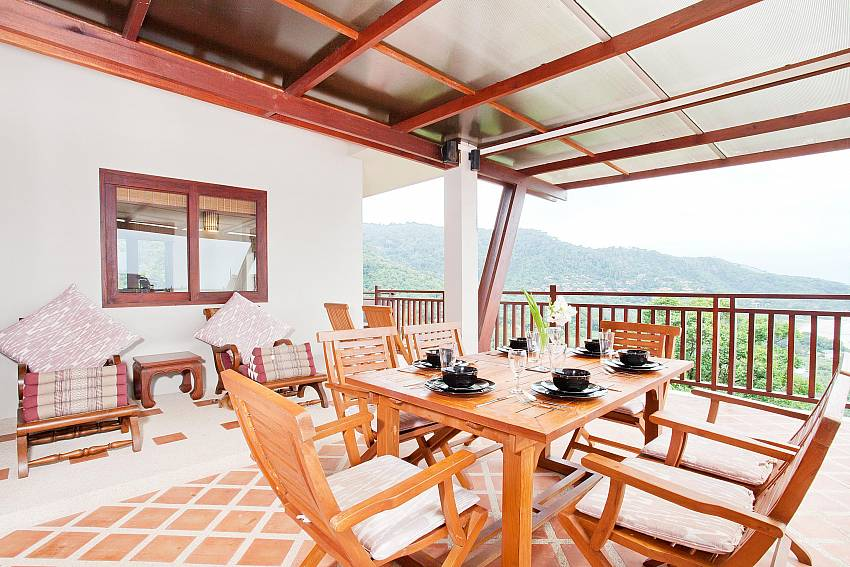 Hilltop Al Fresco Dining_baan-muang_2-bedroom-villa_shared-infinity-pool_sea-views_ba-kantiang_koh lanta_thailand