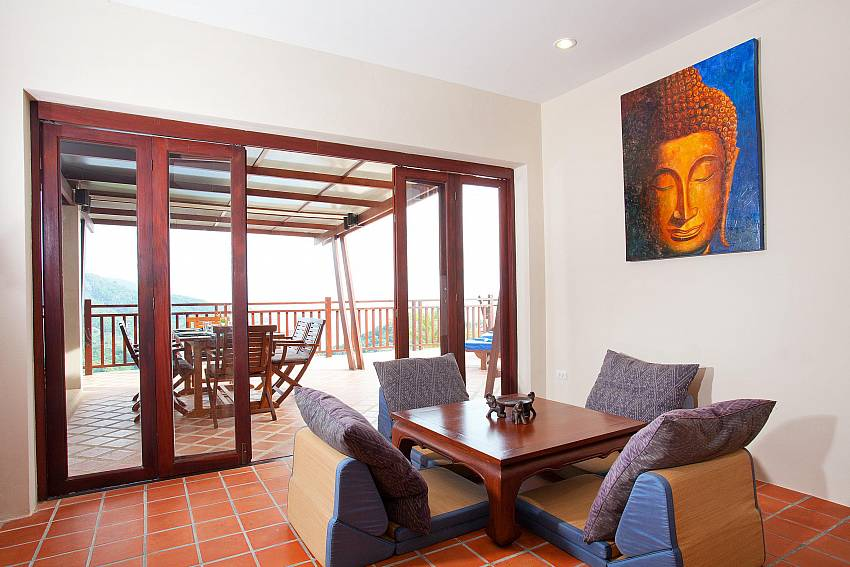 Living Room & Terrace_baan-gaan_2-bedroom-villa_shared-infinity-pool_sea-views_ba-kantiang_koh lanta_thailand
