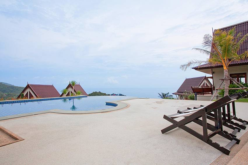 Pool and Terrace_baan-gaan_2-bedroom-villa_shared-infinity-pool_sea-views_ba-kantiang_koh lanta_thailand