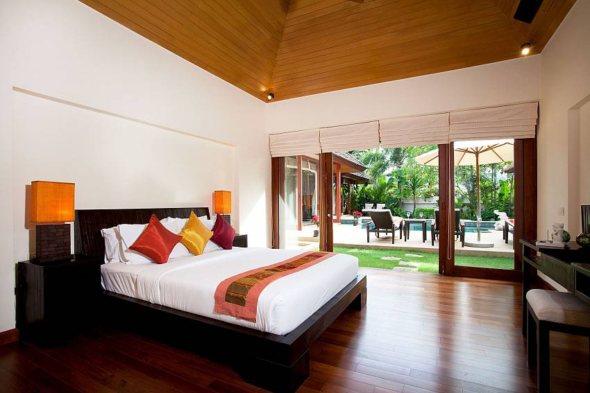 2. bedroom with direct access to the garden at Bang Tao Bali Villa Phuket