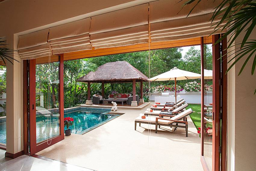 Enjoy your stay inside or by the pool of Bang Tao Bali Villa Phuket