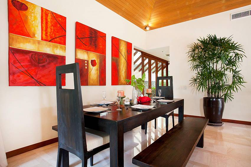 Dining Table_bang-tao-bali_3-bedroom-villa_private-pool_bang-tao_phuket