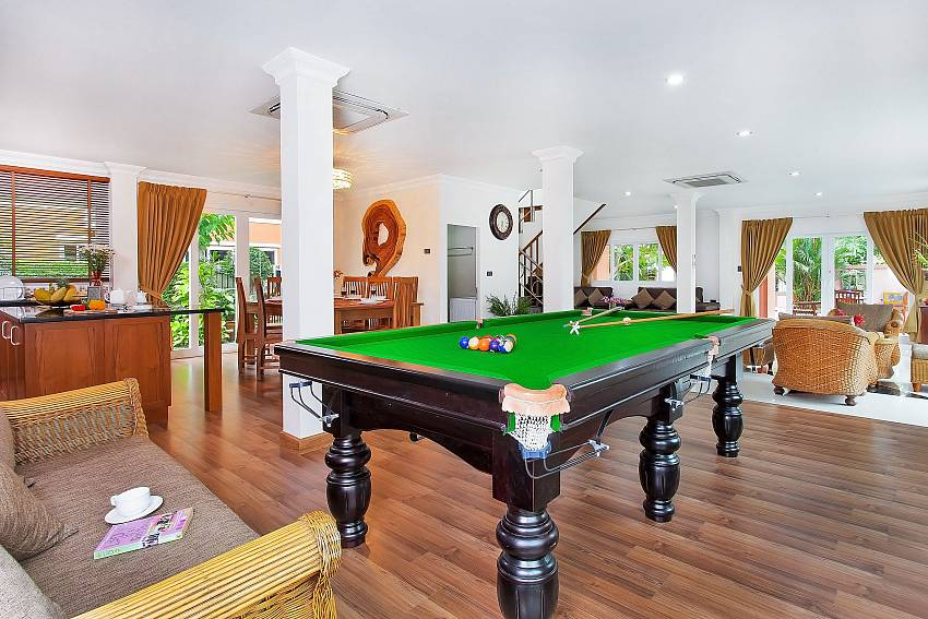 Snooker table with comfortable sofa Of Baan Nomella