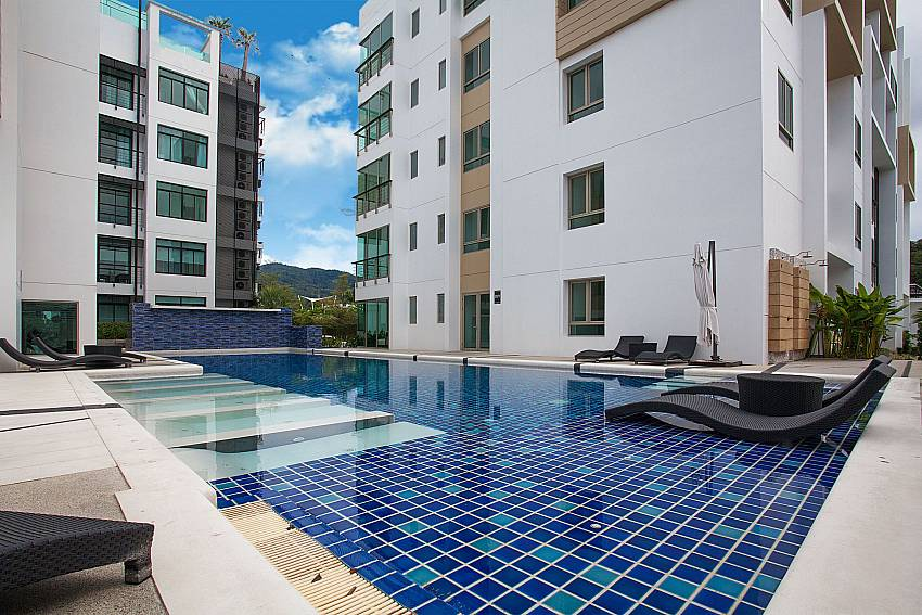 Big communal pool for guest at Kamala Chic Apartment in West Phuket