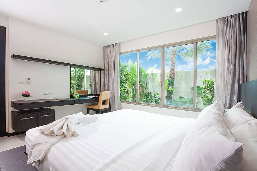 Modern bedroom at Kamala Chic Apartment on the sunset coast Phuket