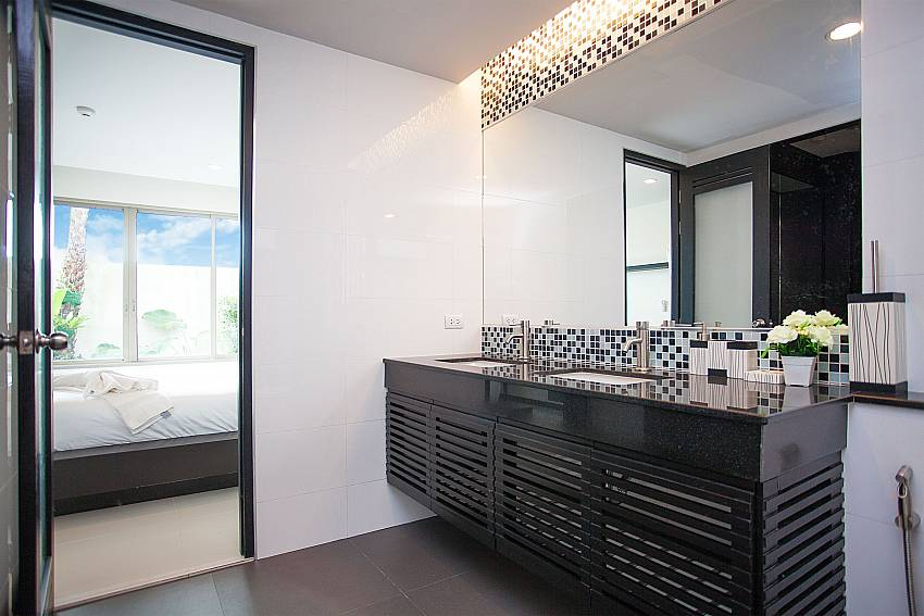 Modern bathroom at Kamala Chic Apartment in West Phuket