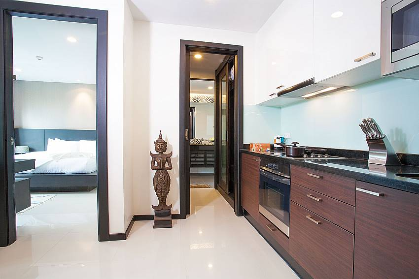 Stylish kitchen at Kamala Chic Apartment in West Phuket