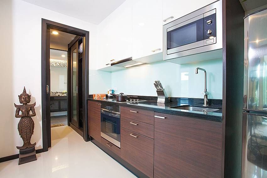 Modern kitchen at Kamala Chic Apartment in Kamala West Phuket