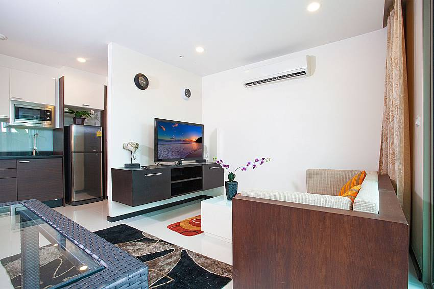 Compact interior at Kamala Chic Apartment in Kamala West Phuket