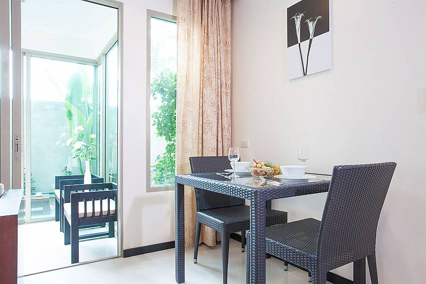 2-seat dining table at Kamala Chic Apartment Sunset coast West Phuket