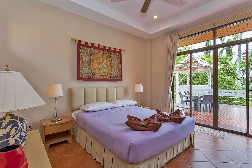 2. double bedroom with access to the terrace at Jomtien Sunny Villa Pattaya