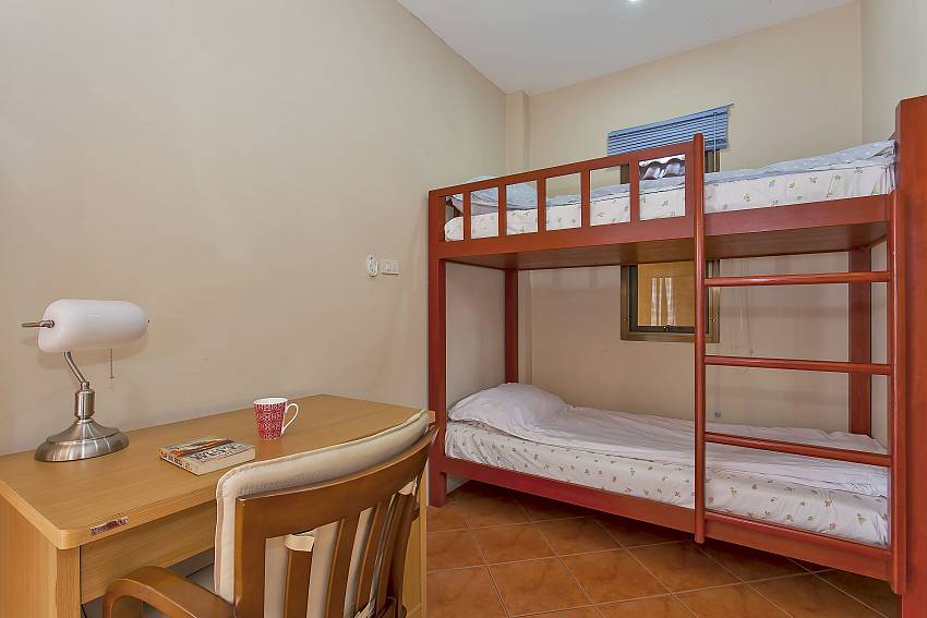 additional bunk bed at 2. bedroom of Sunny Villa in Jomtien Pattaya