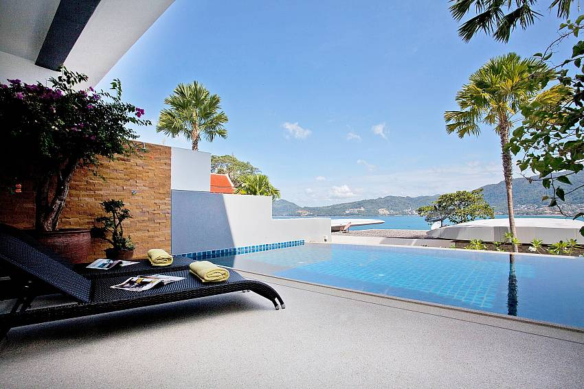 Swimming pool overlooking scenery Of Seductive Sunset Villa Patong