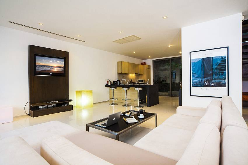 Living room with TV Of Seductive Sunset Villa Patong