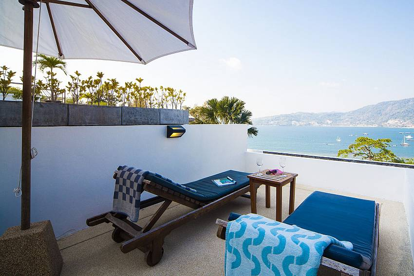 Sun  bed outdoor see views Of Seductive Sunset Villa Patong