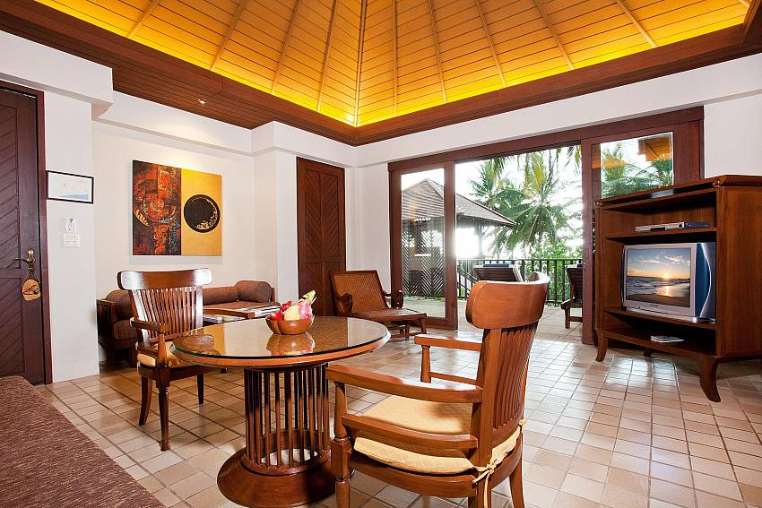 Dining table in the house Of Pimalai Beach Villa 1 Bedroom Luxury Property in Koh Lanta
