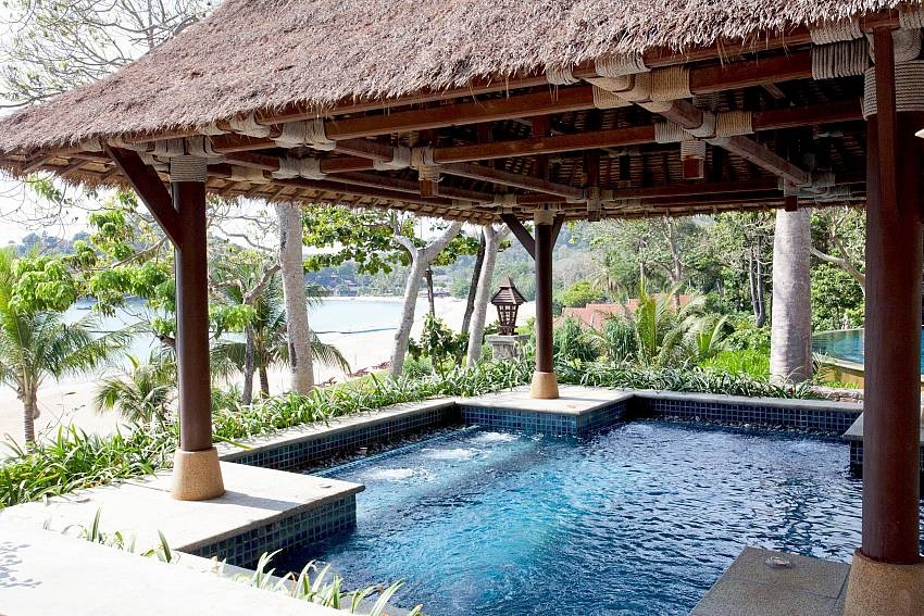 Jacuzzi on pavilion Of Pimalai Beach Villa 1 Bedroom Luxury Property in Koh Lanta