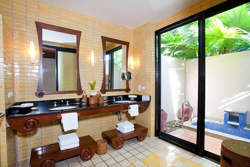 Washbasin near jacuzzi tub Of Pimalai Beach Villa