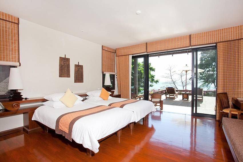 Bedroom with balcony Of Pimalai Beach Villa (First)