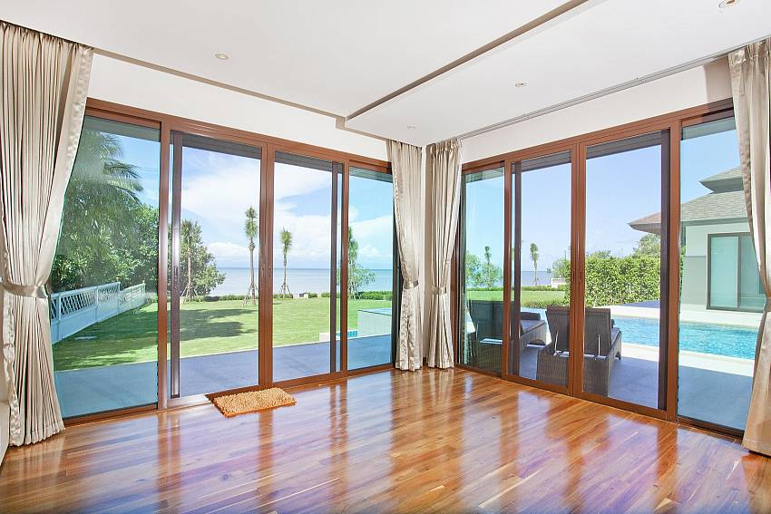 Hard wood floors add the special feel at Koh Chang Wave Villa A