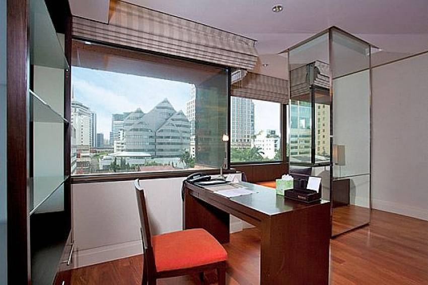 Desk views Of Sala Daeng Designer Suite Room 606