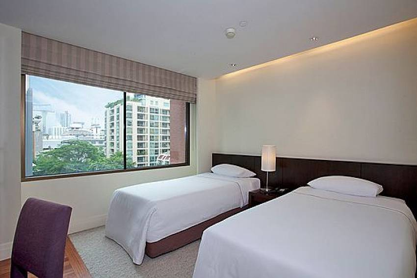 Double bedroom views Of Sala Daeng Designer Suite Room 606 (Second)