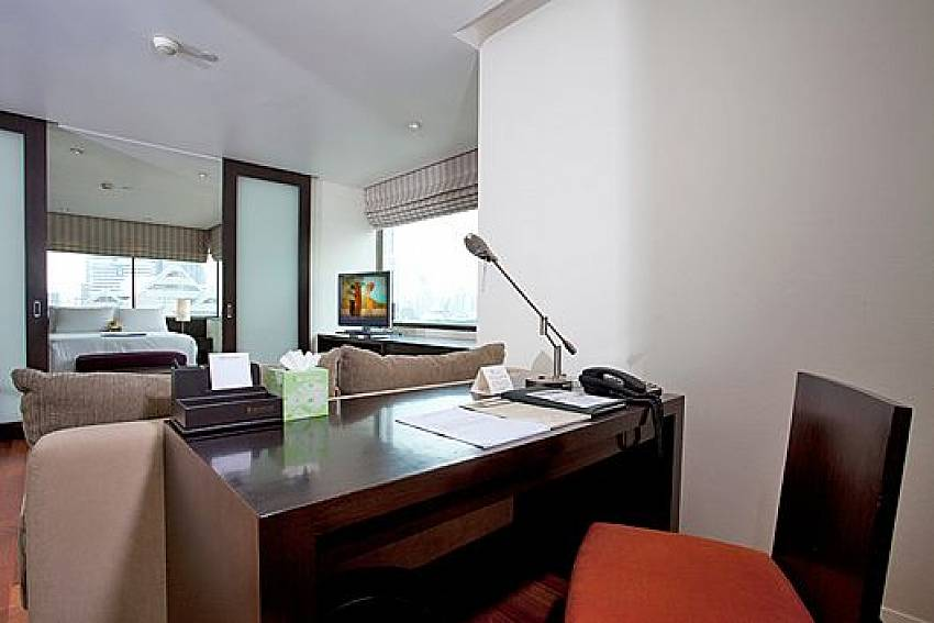 Desk Of Sala Daeng Deluxe Suite Room 1207