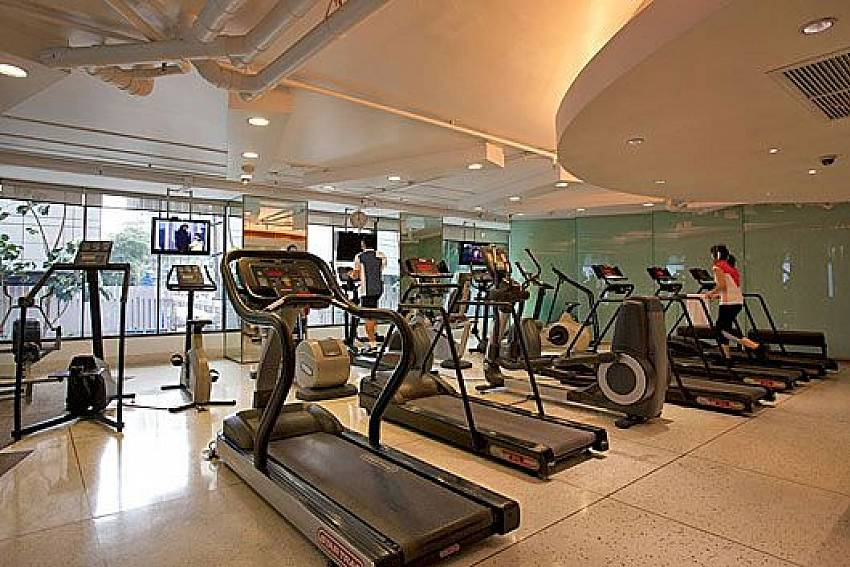 Fitness room Of Sala Daeng Deluxe Suite Room 1207